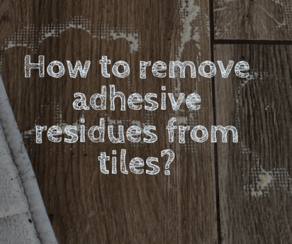 Remove adhesive residues from tiles, MikroVeda Lifehack with Blond or Clean